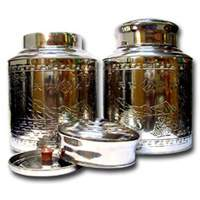 1 LB 5.3 oz Stainless Steel Empty Can
